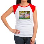 Garden / Poodle (Silver) Women's Cap Sleeve T-Shir