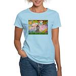 Garden / Poodle (Silver) Women's Light T-Shirt