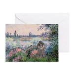 Seine / Poodle (Silver) Greeting Card