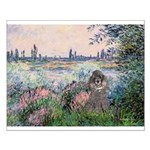 Seine / Poodle (Silver) Small Poster
