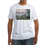 Seine / Poodle (Silver) Fitted T-Shirt