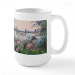 Seine / Poodle (Silver) Large Mug