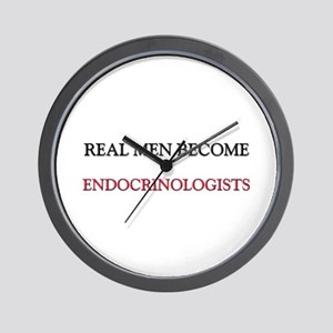 Real Men Become Endocrinologists Wall Clock