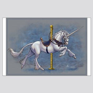 Carousel Unicorn Large Poster