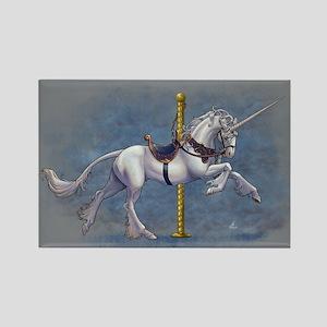 Carousel Unicorn Rectangle Magnet