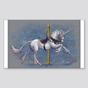 Carousel Unicorn Sticker (Rectangle)