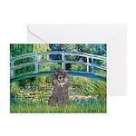 Bridge / Poodle (Silver) Greeting Cards (Pk of 10)