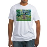 Bridge / Poodle (Silver) Fitted T-Shirt