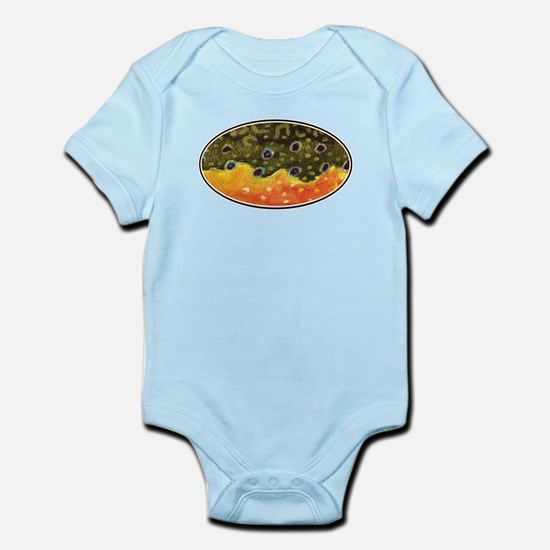 Brook Trout Fly Fishing Infant Bodysuit