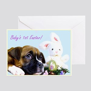 Baby's First Easter boxer Greeting Card