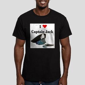 I Heart Captain Jack Men's Fitted T-Shirt (dark)