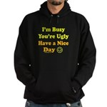 Have a Nice Day Sarcastic Hoodie (dark)