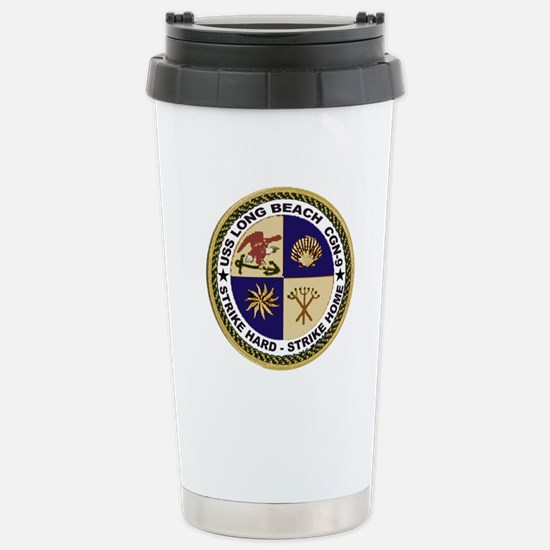 USS Long Beach CGN 9 Stainless Steel Travel Mug