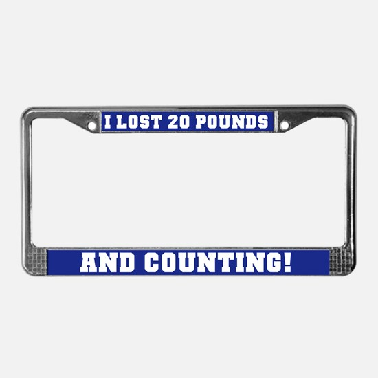 20 Pounds Lost License Plate Frame