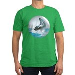 Bubble Dolphin Men's Fitted T-Shirt (dark)