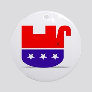 Dead GOP Elephant Ornament (Round)