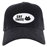 Cat Fanatic Black Cap