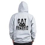 Cat Fanatic Zip Hoodie