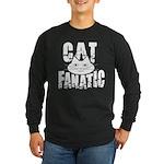 Cat Fanatic Long Sleeve Dark T-Shirt