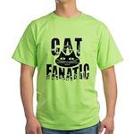Cat Fanatic Green T-Shirt