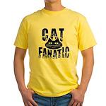Cat Fanatic Yellow T-Shirt