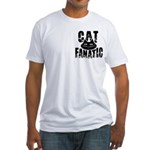 Cat Fanatic Fitted T-Shirt