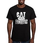 Cat Fanatic Men's Fitted T-Shirt (dark)