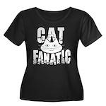 Cat Fanatic Women's Plus Size Scoop Neck Dark T-Sh