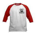 Cat Fanatic Kids Baseball Jersey
