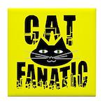 Cat Fanatic Tile Coaster