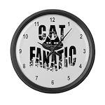 Cat Fanatic Large Wall Clock