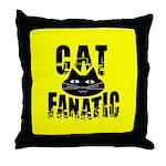 Cat Fanatic Throw Pillow