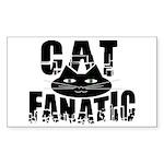 Cat Fanatic Rectangle Sticker