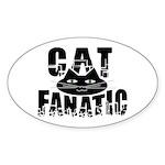 Cat Fanatic Oval Sticker (50 pk)