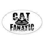 Cat Fanatic Oval Sticker (10 pk)