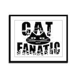 Cat Fanatic Framed Panel Print