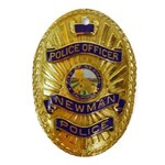 Newman Police Oval Ornament