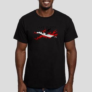 Lake Dive Ouachita, AR Men's Fitted T-Shirt (dark)