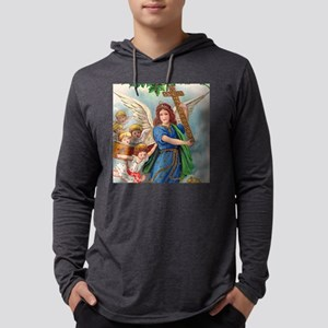 Vintage Christmas Angel With Cross Long Sleeve T-S