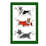 Corgi christmas Postcards