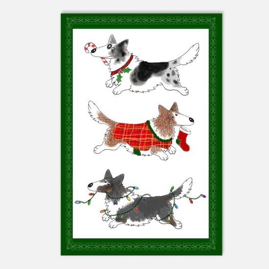 Three Cardigan Corgis Postcards (Package of 8)