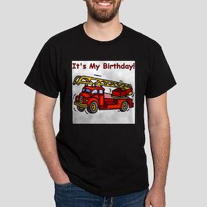 Fire Truck Birthday White T-Shirt