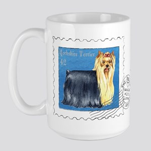 Yorkie Stamp Large Mug
