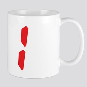 31 thirty-one red alarm clock Mug