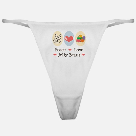 Peace Love Jelly Beans Classic Thong