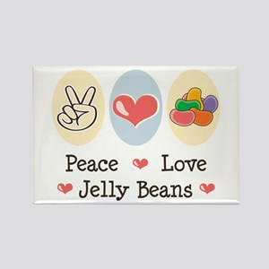 Peace Love Jelly Beans Rectangle Magnet