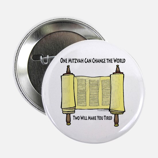 "One Mitzvah Can Change the Wo 2.25"" Button (100 pa"