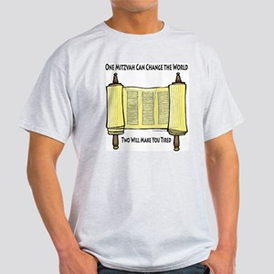 One Mitzvah Can Change the Wo Light T-Shirt