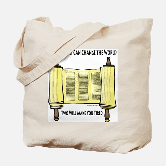 One Mitzvah Can Change the Wo Tote Bag