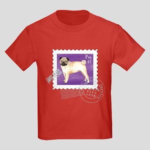 Pug Stamp Kids Dark T-Shirt